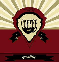 Retro coffee label vector image