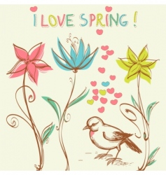 spring illustration vector image vector image