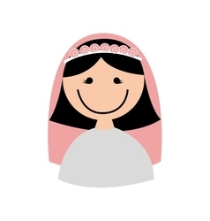 wife character isolated icon vector image vector image