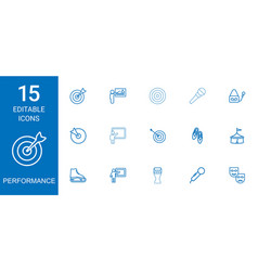 15 performance icons vector