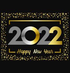 2022 golden glitter happy new year card vector
