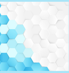 abstract blue and white repeating hexagons vector image
