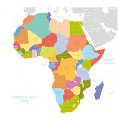 Africa single states political map each country vector