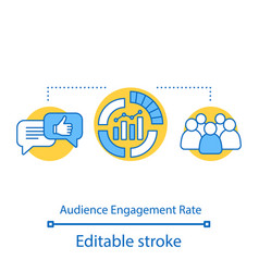 Audience engagement rate concept icon vector