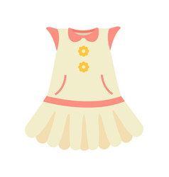 Baby clothes dress poster vector