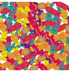 Background of many colored candies in Many Shapes vector