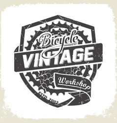 bicycles vintage sprocket logo vector image vector image