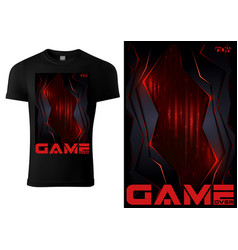 Black t-shirt for computer game players vector