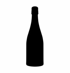 bottle dark silhouette vector image