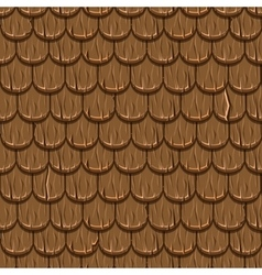 Brown wooden old roofing rotiles seamless vector
