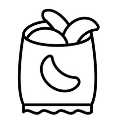 Chips bag icon outline style vector