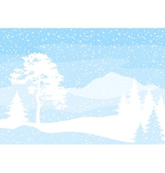 Christmas background trees and snow vector image