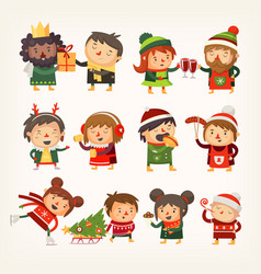 christmas people vector image