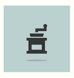 coffee grinder icon simple vector image
