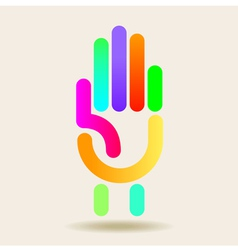 Colorful Hand graphic vector image