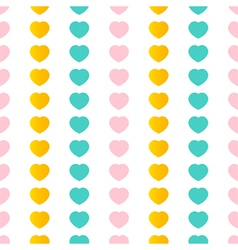 Colorful hearts seamless pattern background vector