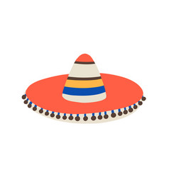 cuban or mexican sombrero traditional or folk hat vector image