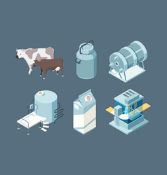 dairy food milk farm products production ice vector image