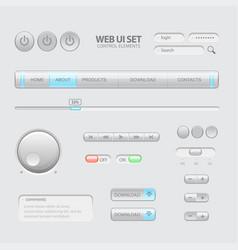 Dark web ui elements vector