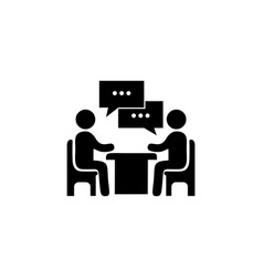 discussion business people concept logo vector image