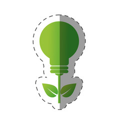 Environment bulb leave light design vector