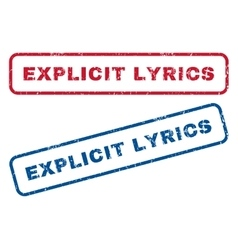 Explicit Lyrics Rubber Stamps vector