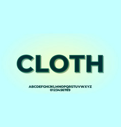 Fabric stitches font effect design template vector