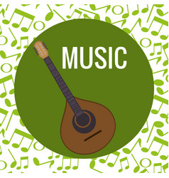 Fado guitar musical instrument vector