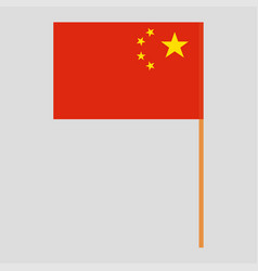 Flagpole with china flag vector