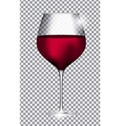 Full Glass of Red Wine on Transparent Background vector image