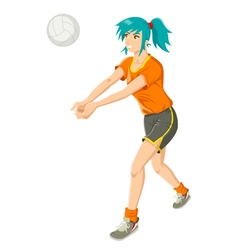 Girl Playing Volley Ball vector