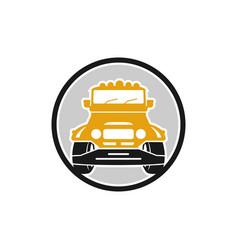 hartop car shield transport logo vector image