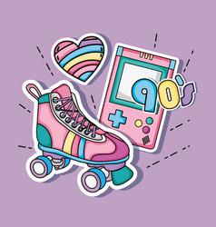 i love 90s cartoons vector image