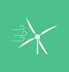 Icon wind turbine in process vector