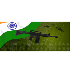 india military power army defense industry war and vector image