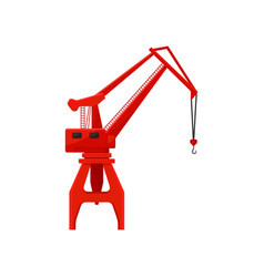industrial red hoisting crane vector image