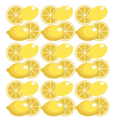 lemon seamless pattern design vector image