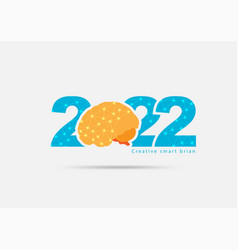 Logo 2022 new year with creative concept vector