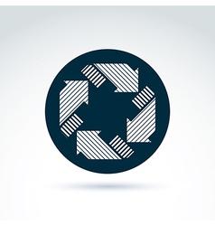Loop sign circulation and rotation icon abstract vector