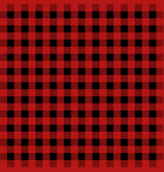 lumberjack plaid pattern in red and black vector image