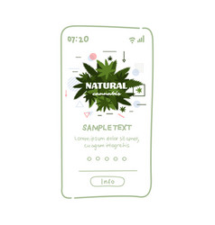 medical natural cannabis or marijuana leaf on vector image