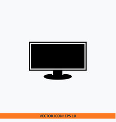 monitor icon flat glyph monochrome style eps 10 vector image