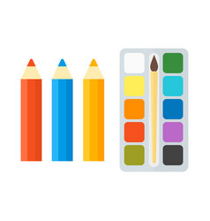 pencils and paints vector image