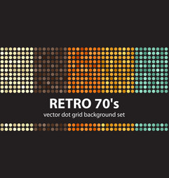 polka dot pattern set retro 70s seamless vector image
