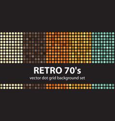 polka dot pattern set retro 70s seamless vector image