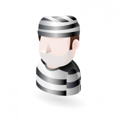 prisoner illustration vector image