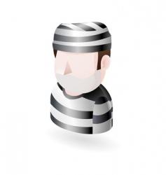 prisoner illustration vector image