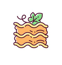 Pumpkin lasagna rgb color icon vector