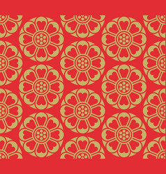 seamless korean pattern vector image