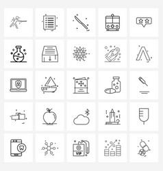 Set 25 ui icons and symbols for feedback truck vector